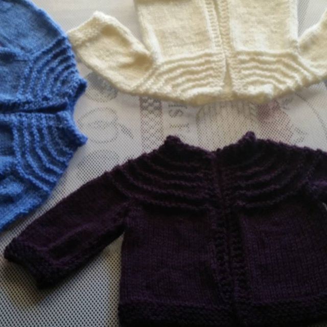 Wee baby sweaters almost ready for the wee babies!