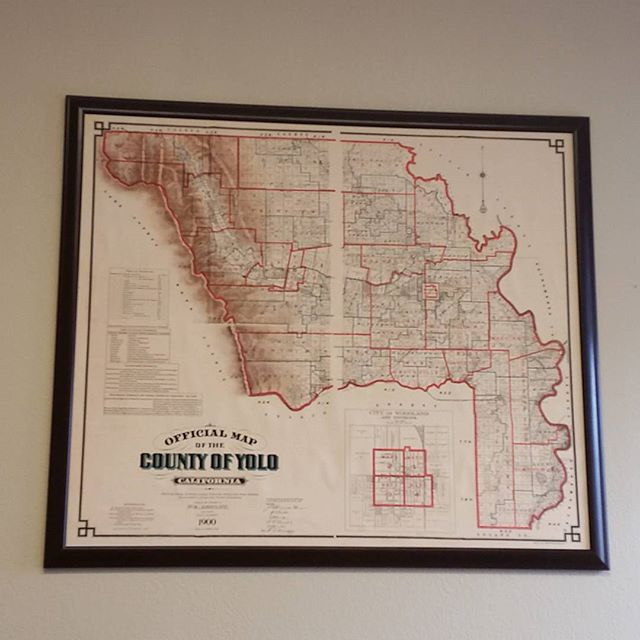 New decoration in office. #1900 map of #yolocounty