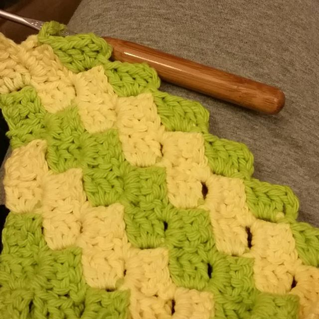 Learning a new stitch. #crochet