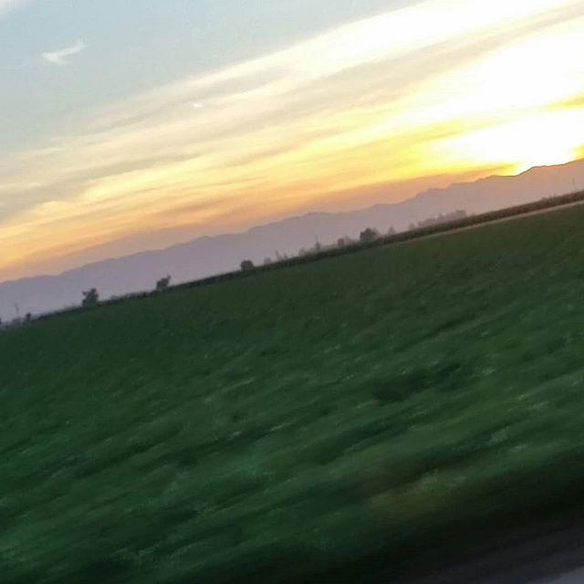 Crooked sunset on drive home. #coastrange #berryessagap