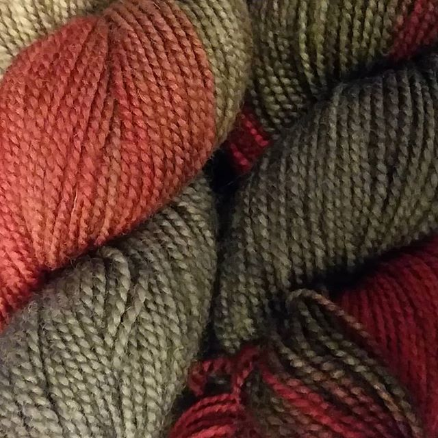 Birthday yarn - Highland Superwash Sock Twist Handpaints by Cloudborn Fibers in the Downtown Days colorway.