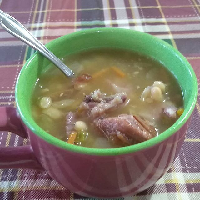 Our tradition...ham and bean soup.